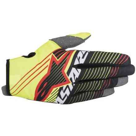 Youth Radar Tracker Gloves yellow black Alpinestars