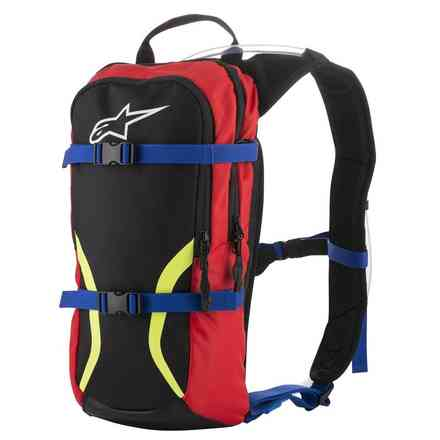 Zaino Iguana Hydration Backpack nero blu rosso Alpinestars